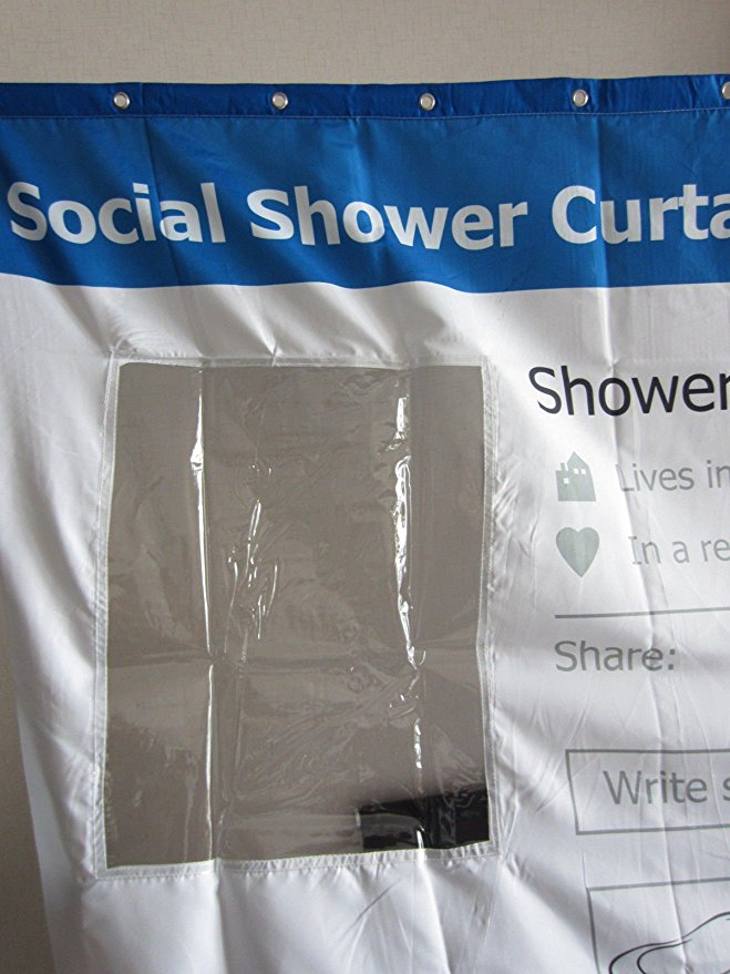 Social Shower Curtain Facebook Profile