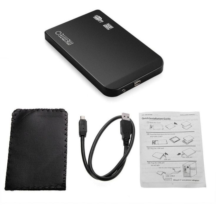 2,5 inch hard disk enclosure scope of delivery