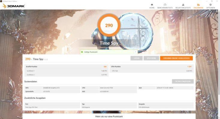 3DMark Benchmark Results Teclast F6 Pro