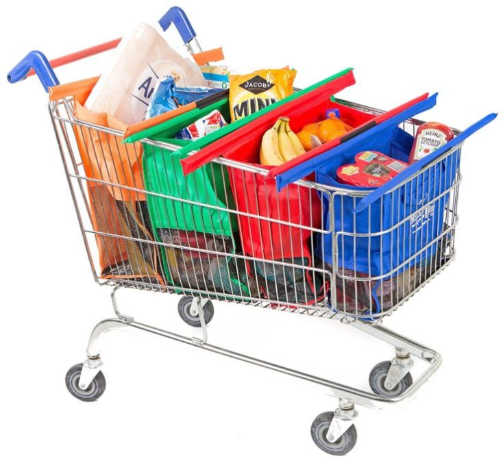 4 in 1 Shopping Bag Shopping Cart Full