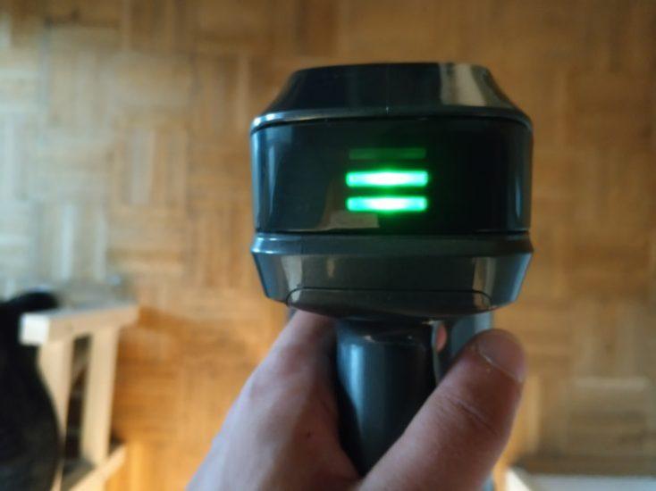 Dibea D18 battery vacuum cleaner LED display