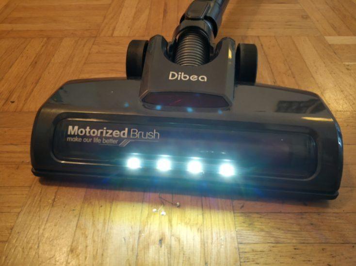 Dibea D18 battery vacuum cleaner LED lights