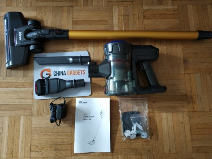 Dibea D18 battery vacuum cleaner Scope of delivery