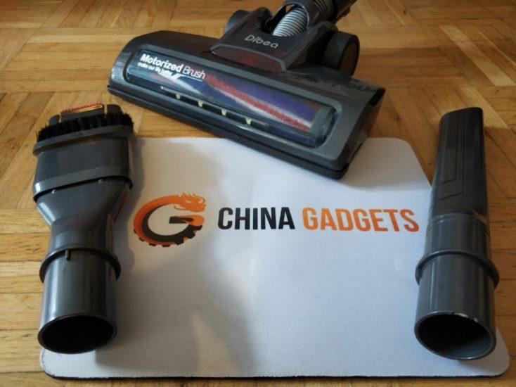 Dibea D18 battery vacuum cleaner attachments