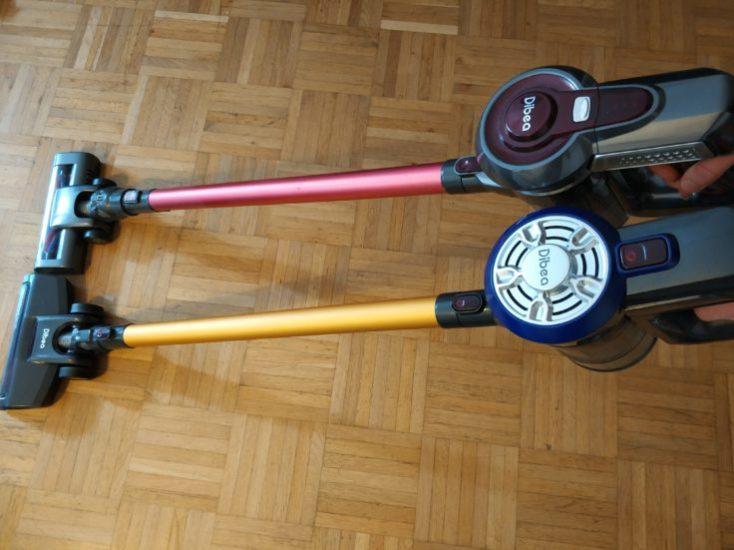 Dibea D18 battery vacuum cleaner comparison Dibea C17 Design