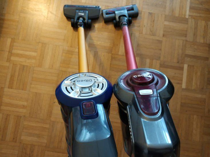 Dibea D18 battery vacuum cleaner comparison Dibea C17 Optics