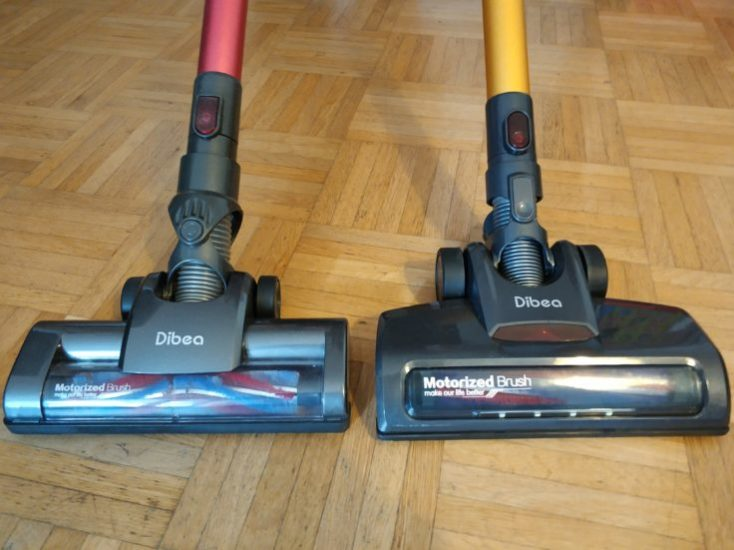 Dibea D18 battery vacuum cleaner comparison Dibea C17 floor nozzle