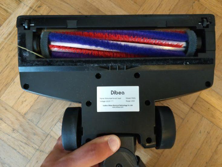 Dibea D18 battery vacuum cleaner floor nozzle brush