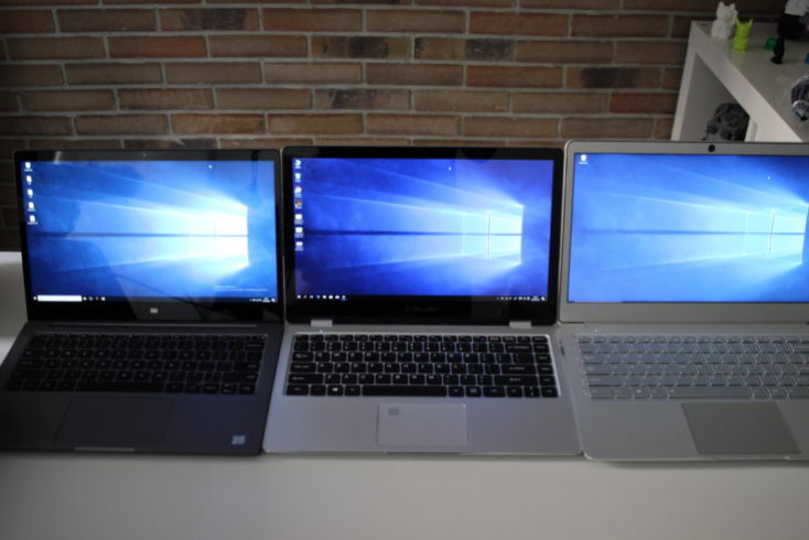 Display comparison Teclast F6 Pro