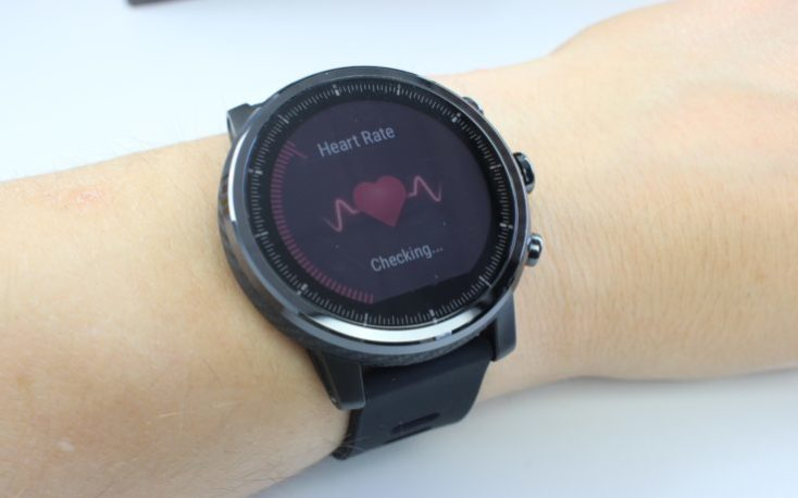 Huami Amazfit Stratos Heart Rate Check