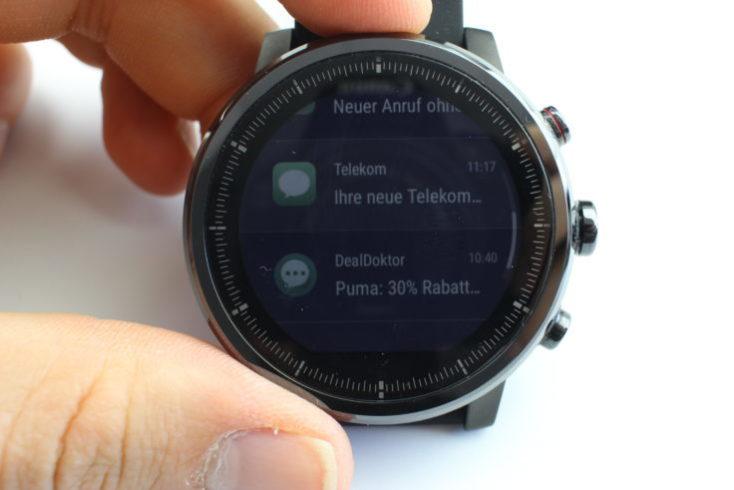Huami Amazfit Stratos Notifications Display