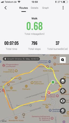 Huami Amazfit Stratos Results Running GPS