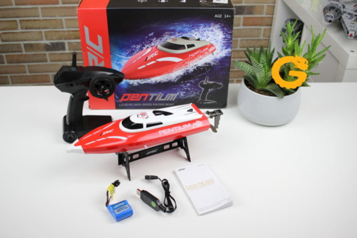 JJRC S1 Pentium RC Boat Packaging and Accessories