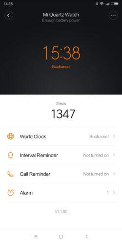 Mijia Quartz Watch functionality