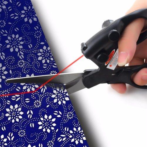 Scissors with laser attachment