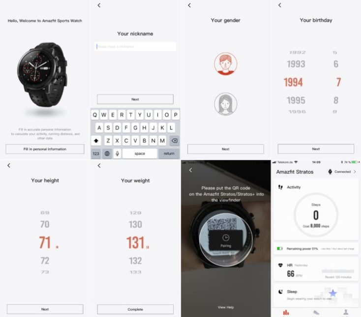Set up Amazfit Watch with Smartphone App