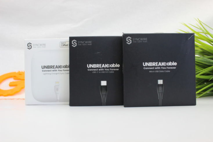 Syncwire UNBREAKcabel charger cable packaging