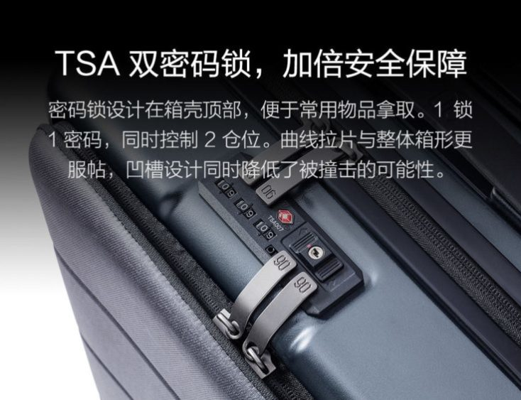 Xiaomi 90Fun Passport Case combination lock