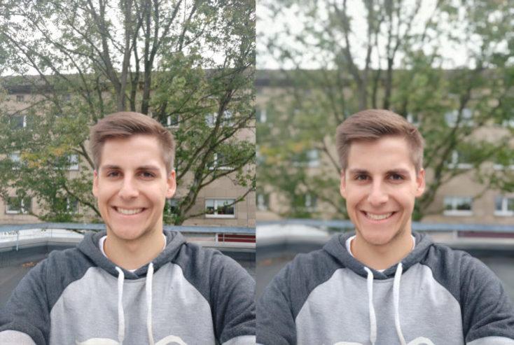 Xiaomi Mi A2 test photo front camera portrait comparison