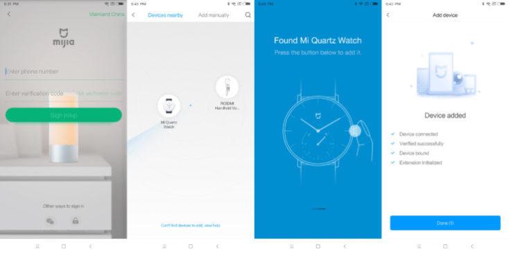 Xiaomi Mijia Hybrid Smartwatch App