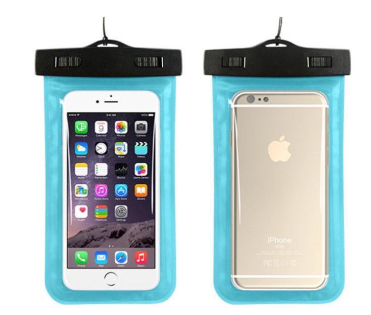 Blue waterproof smartphone case