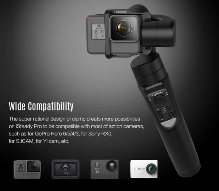 High iSteady Pro Gimbal with Actioncams