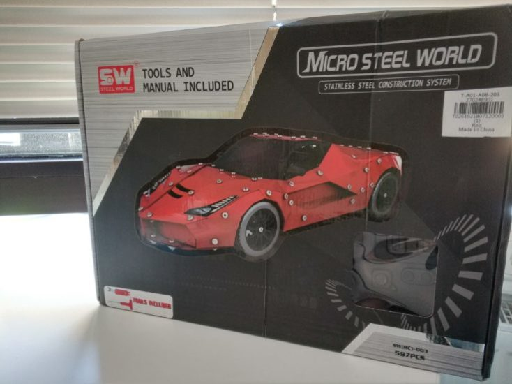 Micro Steel World Sports Car Kit Cardboard