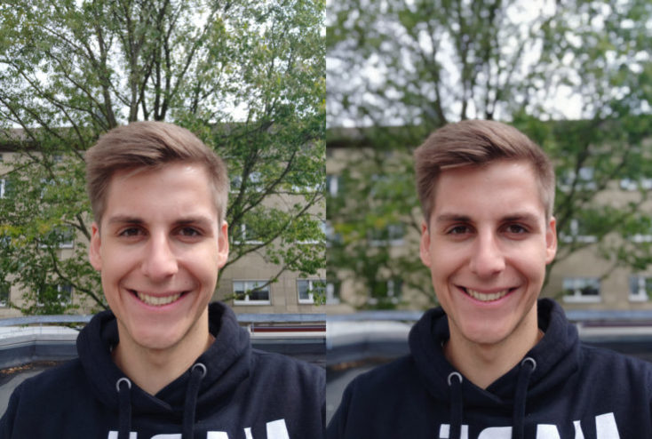 Xiaomi Mi 8 EE test photo front camera portrait mode comparison