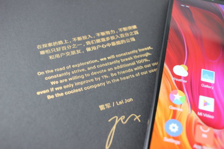 Xiaomi Mi 8 Explorer Edition CEO Greeting
