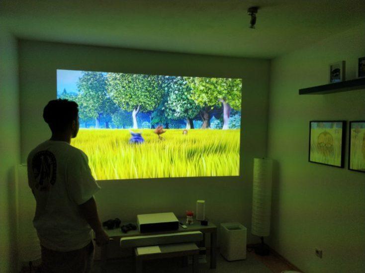 Xiaomi Mijia projector dark room