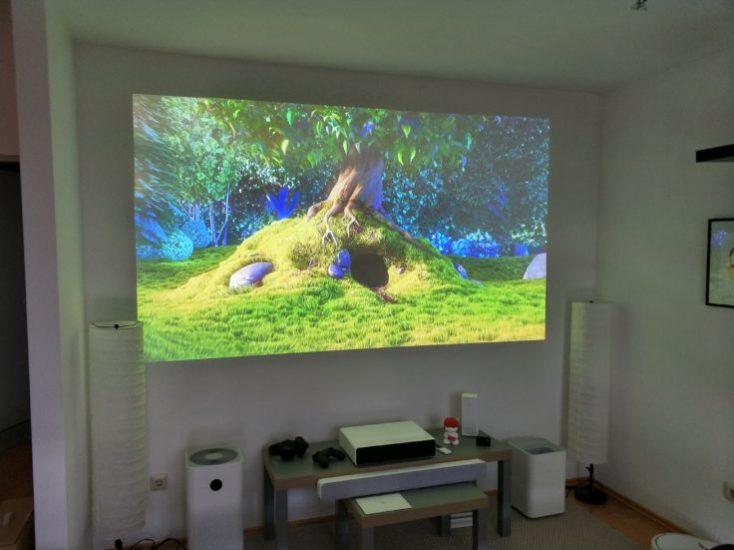 Xiaomi Mijia projector living room