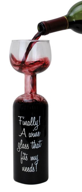 Full Bottle Wine Glass Slogan