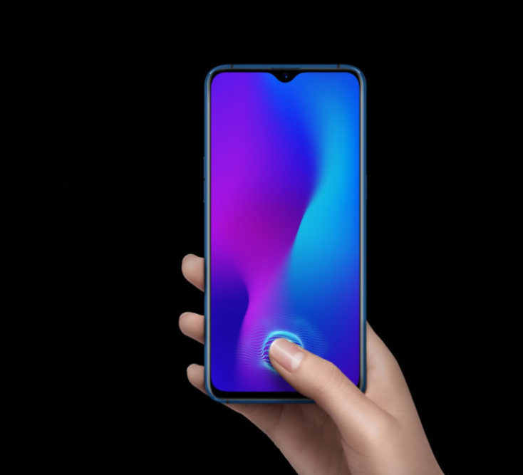 Oppo RX17 fingerprint sensor in the display