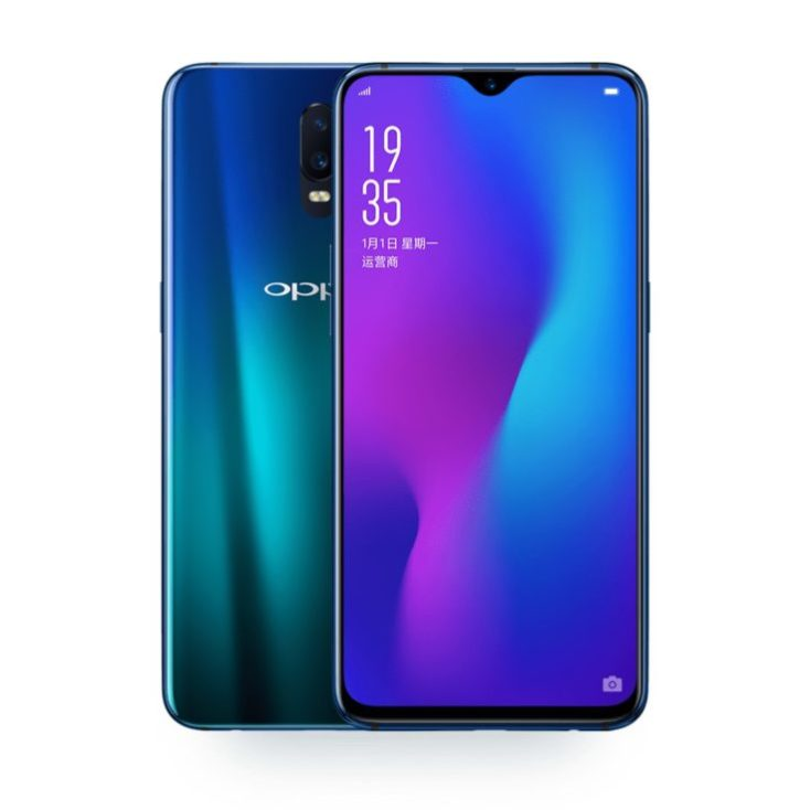 Oppo RX17 smartphone front and back