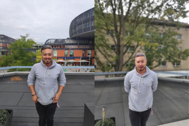 Xiaomi Pocophone F1 test photo main camera person comparison