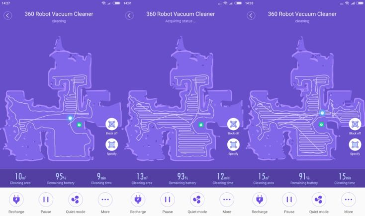 360 S6 Sweeping Robot Vacuum Robot App Mapping