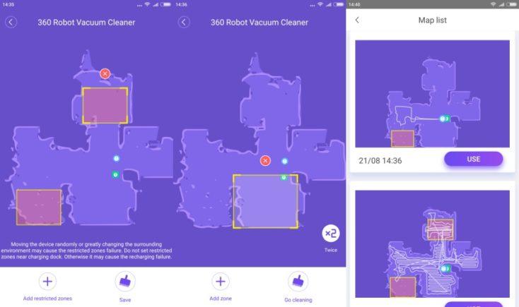 360 S6 Sweeping Robot Vacuum Robot App Room Layout