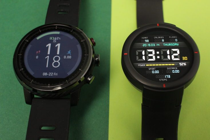 Display comparison Amazfit Verge with Stratos