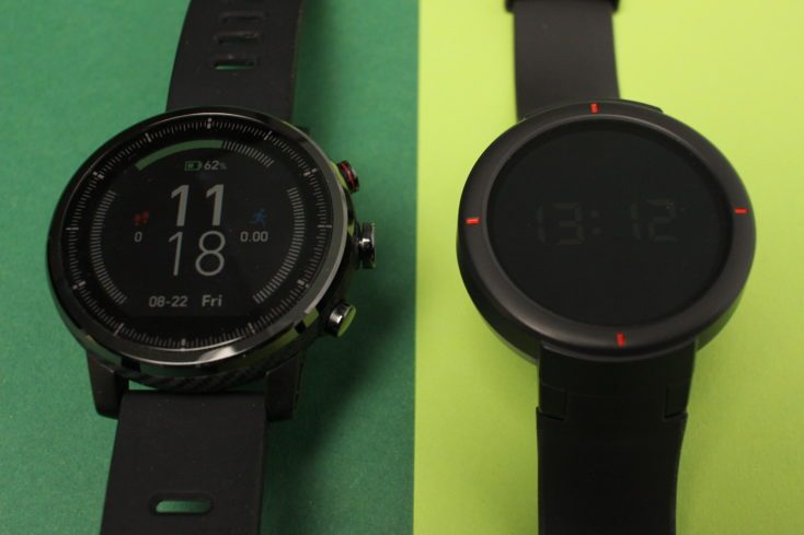 Display comparison Amazfit Verge with Stratos Alwasy-On
