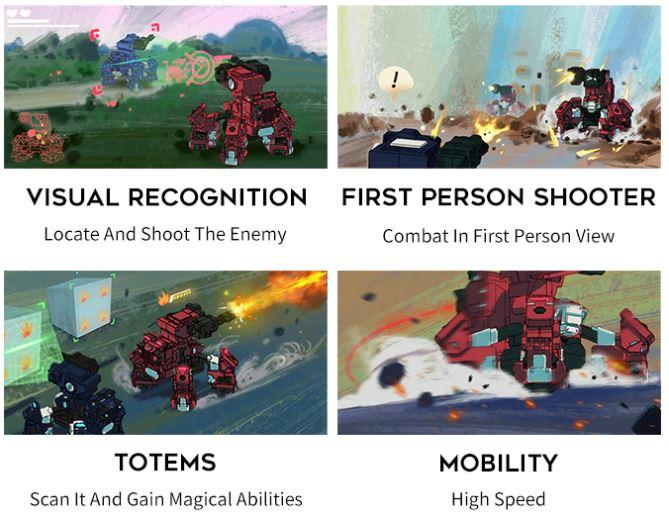 Geio combat robot functions