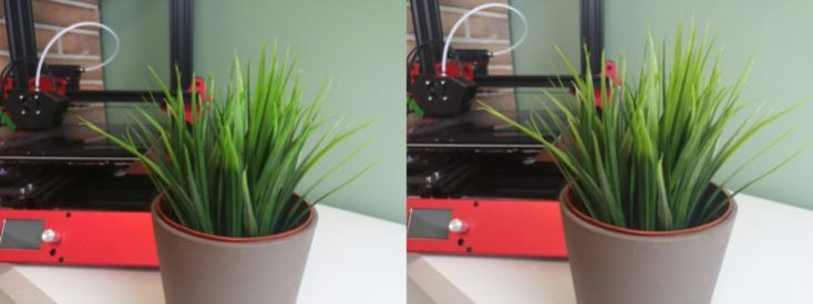Honor 8X AI vs. normal plant