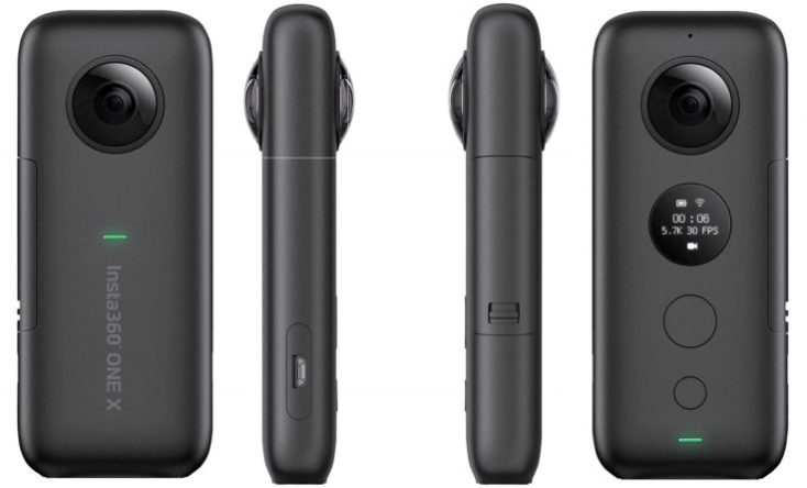 Insta360 ONE X Actioncam from all sides