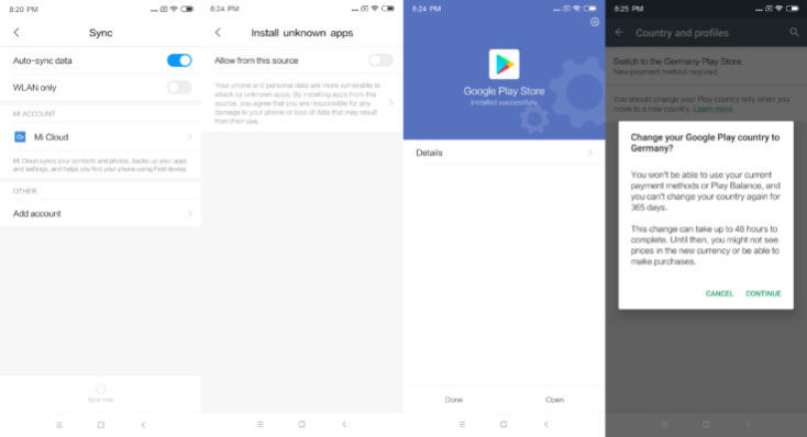 Install Xiaomi Mi Mix 3 Google Play Store