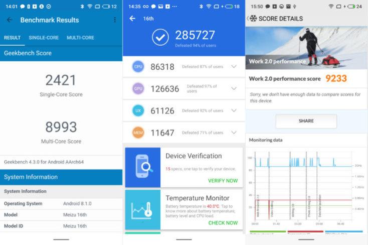Meizu 16 benchmarks