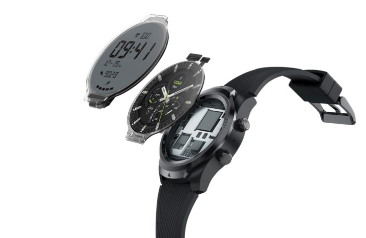 TicWatch Pro 4G LTE two displays