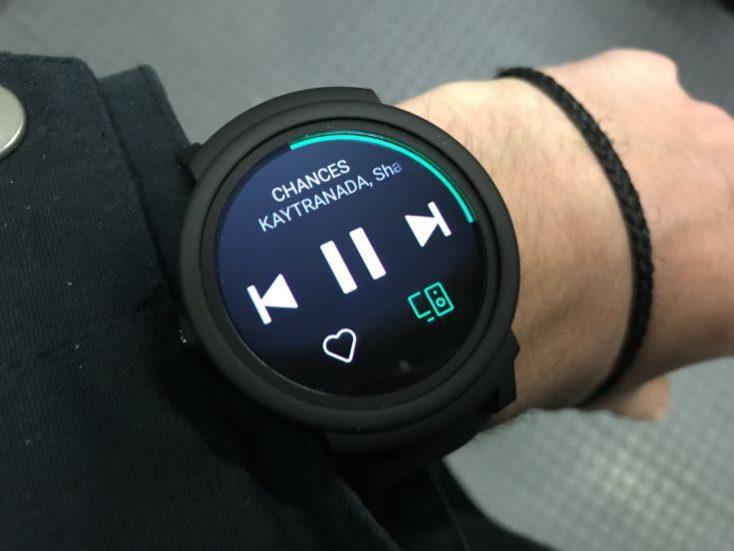 Ticwatch E Spotify