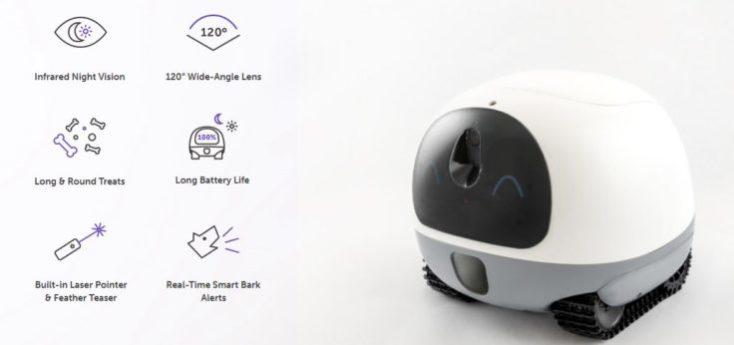 VAVA Pet Cam Pet Robot Functions