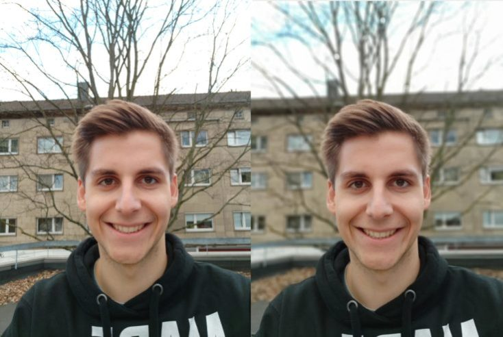 Xiaomi Mi Mix 3 test photo front camera portrait comparison