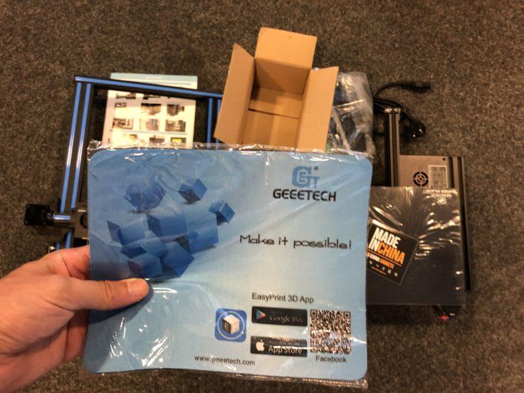 Geeetech A10 3D printer (220 x 220 x 260 mm) - the better