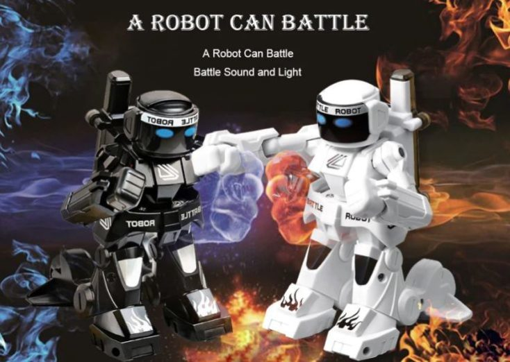 777-615 RC Fighting robot advertising